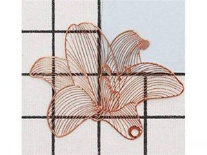 L'apprentissage en métal élégant Laiton Marque-page Lily signets pour les amateurs de livre Cadeau papeterie Bureau à imprimer de la marque AHIMITSU image 0 produit