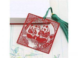 L'apprentissage Panda Marque-page en métal avec Style chinois à franges avec Signet pour anniversaire Cadeau de Noël à imprimer de la marque AHIMITSU image 0 produit