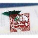L'apprentissage Panda Marque-page en métal avec Style chinois à franges avec Signet pour anniversaire Cadeau de Noël à imprimer de la marque AHIMITSU image 1 produit