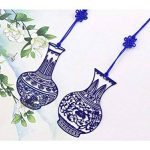 L'apprentissage rétro style chinois Bleu et blanc Porcelaine Marque-page en métal creux signets pour anniversaire Cadeau de Noël à imprimer de la marque AHIMITSU image 1 produit