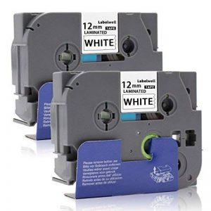 Labelwell 12mm Compatible Brother Tze-231 Tze231 Tz-231 Noir sur blanc Rubans d'étiquettes Cassette d'étiquette stratifiée adhésive standard pour Brother P-Touch GL-H100 PT H100LB H101C P700 E100 D600VP D400VP D400 D210E550WVP H75H100 E100VP H101TB H105 image 0 produit