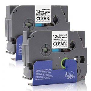 Labelwell 12mm Tze-131 Noir sur Transparent Rubans - 2 Pack Compatible Brother Tze-131 Tze131 Tz-131 Rubans d'étiquettes Cassette d'étiquette stratifiée adhésive standard pour Brother P-Touch GL-H100 PT H100LB H101C P700 E100 D600VP D400VP D400 D210E550W image 0 produit