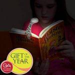 Lampe de Lecture pour Lire au Lit - Lampe LED Livres et Liseuses et Marque Page - Flexible, Pliable, Légère - Piles Incluses - Blanc égyptien de la marque Gifts for Book Lovers image 1 produit