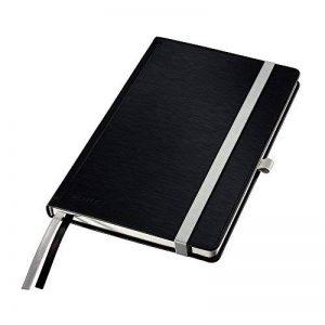 Leitz Cahier A5, 160 Pages, Quadrillé, 2 Marque-Pages, Style, Noir, 44860094 de la marque Leitz image 0 produit