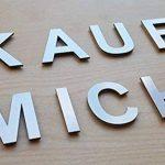 Lettre J en métal, acier inoxydable brossé–Hauteur 4cm, Chambres étiquette d'inscription, bureau, chambre d'enfant, Signalisation–Autocollant Mural de la marque dieHolding image 1 produit
