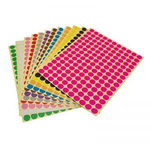 LJY 10mm rond à pois Étiquettes autocollants CODE de couleur, 12 étiquettes à pois Couleurs assorties, 12 feuilles différentes de la marque LJY image 0 produit