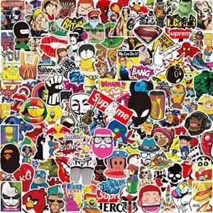 Lot Autocollant [150-PCS], Q-Window Stickers Vinyle Enfants Autocollants pour Voiture Moto Ps4 Livre Papier Vélo Iphone Scrapbooking Ordinateur Xbox One Bebe Valise Macbook Ordinateur Noeud Bumper Bombe Autocollant.Imperméable et Suncare de la marque Q-Wi image 0 produit
