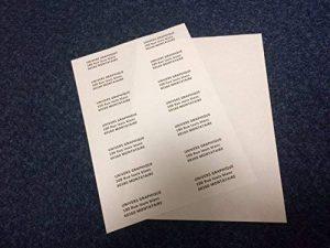 Lot de 10 Planches A4 d'étiquettes autocollantes pour imprimer les adresses de courrier, mailing de la marque UNIVERS GRAPHIQUE image 0 produit