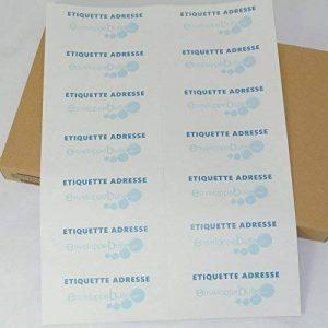 Lot de 100 Planches A4 de 14 Etiquettes ADRESSES format 4,25 x 10,5 cm de la marque enveloppebulle image 0 produit