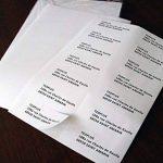 Lot de 100 Planches A4 de 14 Etiquettes ADRESSES format 4,25 x 10,5 cm de la marque enveloppebulle image 4 produit