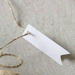 Lot de 100 étiquettes G2plus en papier Kraft pour cadeau 7cm x 2cm étiquettes vierges pour mariage anniversaire bagages étiquettes marron à accrocher avec 30mètres de ficelle de jute blanc de la marque G2PLUS image 2 produit