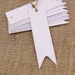 Lot de 100 étiquettes G2plus en papier Kraft pour cadeau 7cm x 2cm étiquettes vierges pour mariage anniversaire bagages étiquettes marron à accrocher avec 30mètres de ficelle de jute blanc de la marque G2PLUS image 1 produit