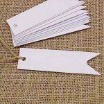 Lot de 100 étiquettes G2plus en papier Kraft pour cadeau 7cm x 2cm étiquettes vierges pour mariage anniversaire bagages étiquettes marron à accrocher avec 30mètres de ficelle de jute blanc de la marque G2PLUS image 4 produit