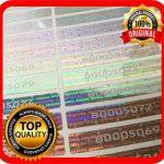 Lot de 100 étiquettes hologramme avec numéros de série, autocollant garanti 48 x 7,5 mm de la marque Holomarks image 3 produit