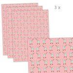 Lot de 3 feuilles de papier cadeau pour enfant/anniversaire d'enfant/bébé / naissance, baptême avec inscription en anglais rose pour fille Format : 50 x 70 cm de la marque Grußkarte mit Herz image 1 produit
