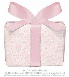 Lot de 3 feuilles de papier cadeau pour enfant/anniversaire d'enfant/bébé / naissance, baptême avec ornientaen rose pour fille Format : 50 x 70 cm de la marque Grußkarte mit Herz image 0 produit