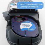 Lot de 3 Ruban Adhésif Pour Étiqueteuse Compatible avec Dymo LetraTag 91201 S0721610 Plastique Noir sur Blanc 12mm x 4m Pour Dymo LetraTag LT-100H LT-100T LT-110T QX 50 XR XM 2000 Plus de la marque TOPLABEL image 4 produit