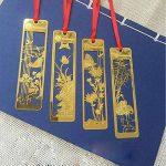 Lot de 4marque-pages chinois en métal Motif creux Doré de la marque Amupper image 1 produit