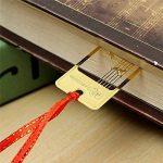 Lot de 4marque-pages chinois en métal Motif creux Doré de la marque Amupper image 2 produit
