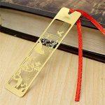 Lot de 4marque-pages chinois en métal Motif creux Doré de la marque Amupper image 3 produit