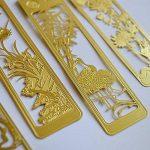Lot de 4marque-pages chinois en métal Motif creux Doré de la marque Amupper image 4 produit