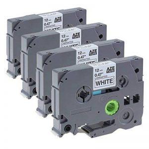 Lot de 4 Ruban pour Étiqueteuse TZe Tapes Noir sur Blanc Compatible avec Brother TZe-231 /12mm x 8m / pour Brother P-Touch PT-1000 PT-1010R PT-2030VP PT-2430PC PT-D600VP PT-E100 PT-H110 PT-D210 PT-9700PC PT-D400 PT-P700 PT-9800PCN PT-H300 PT-1290 PT-P750W image 0 produit