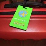 Lot de 4 étiquettes de valise souple incassable ✮ Travel Earth ✮ Ensemble de 4 étiquettes bagage de voyage pour sac ou valise. 30 porte-nom personnalisés à télécharger + Sangle de fixation incluse ! de la marque Travel Earth image 3 produit