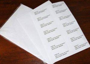 Lot de 50 Planches A4 d'étiquettes autocollantes de la marque enveloppebulle image 0 produit