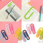 Lot de 610,2cm 100mm Mega Grande Paper clips–Bureau d'accessoires mignon papier Aiguille Multicolore Marque-page pour Office Home Business de la marque QBKLong image 3 produit