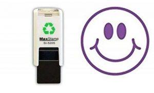Loyauté Tampon–Violet Smiley–Tampon encreur–11mm Idéal pour vos cartes de fidélité récompense de la marque Max image 0 produit