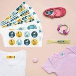 Ludilabel - Pack d'étiquettes autocollantes et thermocollantes personnalisées pour la Crèche - Licorne de la marque Ludilabel image 1 produit