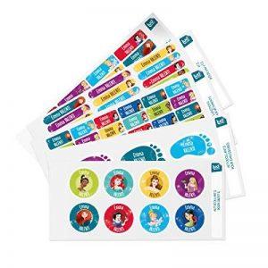 Ludilabel - Pack d'étiquettes autocollantes et thermocollantes personnalisées pour la Maternelle - Disney Princesses de la marque Ludilabel image 0 produit
