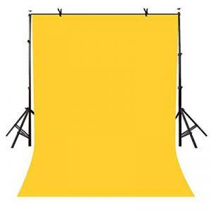Lylycty 1,5x 2,1m Photographie Studio non-tissé Toile de fond Fond Jaune Fond de couleur unie simple Fond Ly090 de la marque LYLYCTY image 0 produit