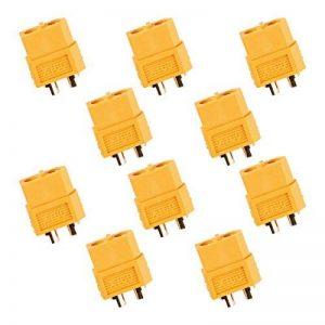 MakerStack 10 pcs XT60 Connecteurs de Batterie RC Batterie Jouet véhicule 5 pcs connecteurs mâles 5 pcs connecteurs Femelles de la marque MakerStack image 0 produit