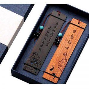 Marque-page en bois naturel fait à la main signets cadeaux avec pompon # 5 de la marque Black Temptation image 0 produit