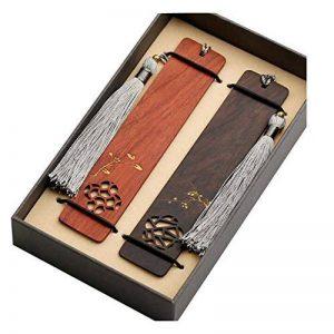 Marque-page en forme de signet classique en bois naturel fait main de la marque Black Temptation image 0 produit