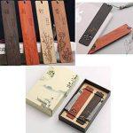 Marque-page en forme de signet classique en bois naturel fait main de la marque Black Temptation image 1 produit