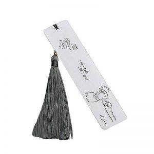 Marque-page fait main en métal naturel fait main avec gland de la marque Black Temptation image 0 produit