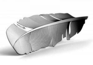 Marque-page, signet KOSHA en forme de plume - Acier inox avec écrin. Idées cadeaux. Swiss made. de la marque KOSHA image 0 produit
