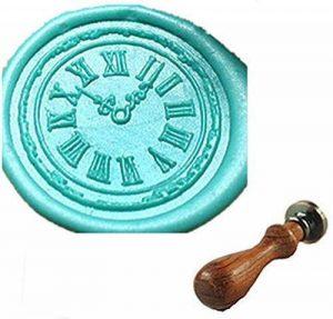 Mdlg Custom vintage Horloge Cool personnalisé Photo Lettre Logo rétro cachet de cire d'invitation en palissandre Lot de poignées de de la marque Luxury Design 15 image 0 produit