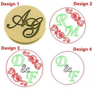 MDLG Vintage Custom en deux lettres lettre personnalisée Logo de mariage Invitation de cire Tampon Poignée en palissandre de la marque MDLG image 0 produit