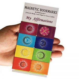Mes Affirmations Magnétiques Signets de Chakras (Anglais) Votre Guide Personnel pour Un Développement Positif avec Des Explications et Des eEemples à Suivre - Format de Poche de la marque MAGnerds® image 0 produit