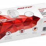 Meto Étiquettes pour étiqueteuse de main 9506158(22x 16mm Lot de 2lignes, 6000, repositionnable, pour Meto, contact, Sato, Avery, Tovel, Samark etc.) 6rouleaux Blanc de la marque Meto image 2 produit