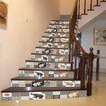 MIAORUI le bureau de style rétro escaliers chez hôtel personnalisé vignette escalier autocollant autocollant de la marque MIAORUI Autocollant mural image 1 produit