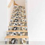 MIAORUI le bureau de style rétro escaliers chez hôtel personnalisé vignette escalier autocollant autocollant de la marque MIAORUI Autocollant mural image 4 produit