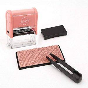 Miseyo DIY timbre à auto-encreur jusqu'à 3 lignes, texte personnalisé étiquette sur vêtements, papier et marqueur de tissu de la marque Miseyo image 0 produit