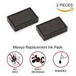 Miseyo – Tampon dateur auto-encreur avec 2 cartouches d'encrage incluses, encre noire de la marque Miseyo image 3 produit