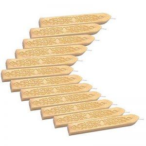 Mogoko - 12 bâtons de cire à cacheter avec mèches pour sceaux d'enveloppes style rétro de la marque Mogoko image 0 produit
