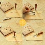 Mogoko - 12 bâtons de cire à cacheter avec mèches pour sceaux d'enveloppes style rétro de la marque Mogoko image 4 produit