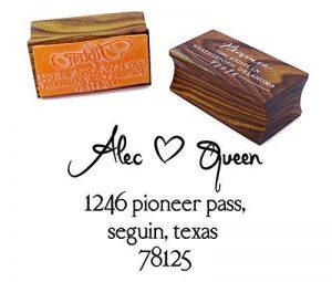 Monté en bois personnalisé Save The Date Tampon personnalisé Timbre pour mariage Cadeau de mariage de la marque Printtoo image 0 produit